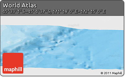 """Political Panoramic Map of the Area around 45°18'49""""S,171°46'30""""E"""