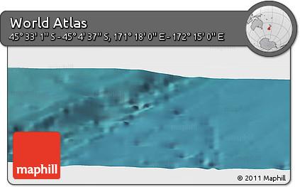 "Satellite Panoramic Map of the Area around 45°18'49""S,171°46'30""E"