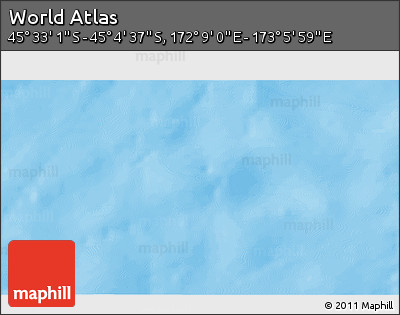 """Shaded Relief 3D Map of the Area around 45°18'49""""S,172°37'30""""E"""