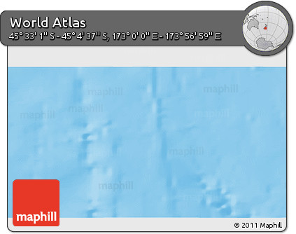 """Physical 3D Map of the Area around 45°18'49""""S,173°28'29""""E"""