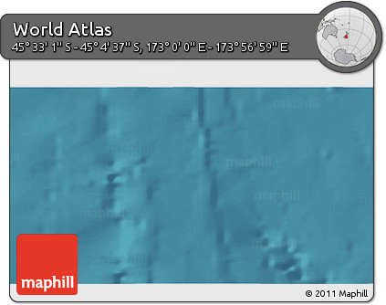 """Satellite 3D Map of the Area around 45°18'49""""S,173°28'29""""E"""