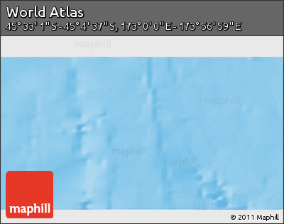 """Shaded Relief 3D Map of the Area around 45°18'49""""S,173°28'29""""E"""