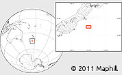 """Blank Location Map of the area around 45°18'49""""S,173°28'29""""E"""