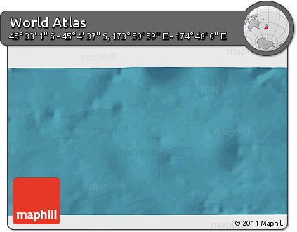 """Satellite 3D Map of the Area around 45°18'49""""S,174°19'29""""E"""