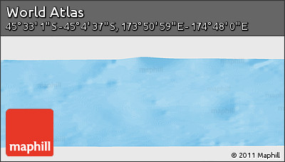 """Physical Panoramic Map of the Area around 45°18'49""""S,174°19'29""""E"""