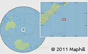 "Savanna Style Location Map of the area around 45°18'49""S,175°10'30""E"