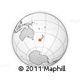 Outline Map of Manapouri, rectangular outline