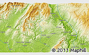 """Physical 3D Map of the area around 45°44'11""""S,169°13'29""""E"""