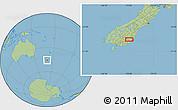 "Savanna Style Location Map of the area around 45°44'11""S,170°4'29""E"