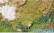 "Satellite Map of the area around 45°44'11""S,170°4'29""E"
