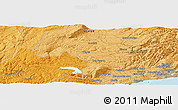 """Political Panoramic Map of the area around 45°44'11""""S,170°4'29""""E"""