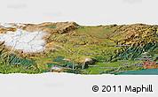 "Satellite Panoramic Map of the area around 45°44'11""S,170°4'29""E"
