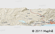 """Shaded Relief Panoramic Map of the area around 45°44'11""""S,170°4'29""""E"""