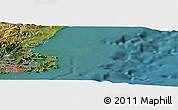 "Satellite Panoramic Map of the area around 45°44'11""S,170°55'30""E"