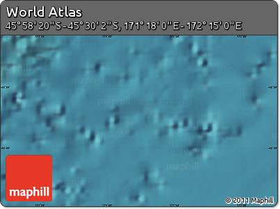 "Satellite Map of the Area around 45°44'11""S,171°46'30""E"