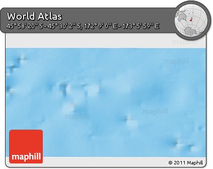 """Physical 3D Map of the Area around 45°44'11""""S,172°37'30""""E"""
