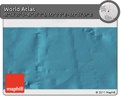 """Satellite 3D Map of the Area around 45°44'11""""S,173°28'29""""E"""