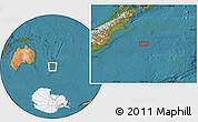 "Satellite Location Map of the area around 45°44'11""S,175°10'30""E"