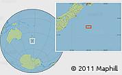 "Savanna Style Location Map of the area around 45°44'11""S,175°10'30""E"