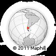 Outline Map of Río Palena, rectangular outline