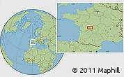 Savanna Style Location Map of Limoges