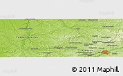 "Physical Panoramic Map of the area around 46° 1' 3"" N, 0° 55' 29"" E"