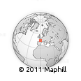 """Outline Map of the Area around 46° 1' 3"""" N, 0° 46' 30"""" W, rectangular outline"""