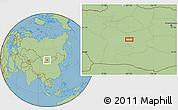 Savanna Style Location Map of Ulaan-Uul