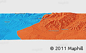 """Political Panoramic Map of the area around 46°1'3""""N,101°13'29""""E"""