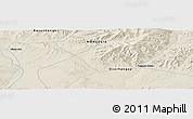 Shaded Relief Panoramic Map of Ulaan-Uul