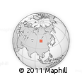 """Outline Map of the Area around 46° 1' 3"""" N, 102° 4' 29"""" E, rectangular outline"""
