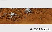 """Physical Panoramic Map of the area around 46°1'3""""N,102°4'29""""E"""