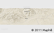 """Shaded Relief Panoramic Map of the area around 46°1'3""""N,102°4'29""""E"""