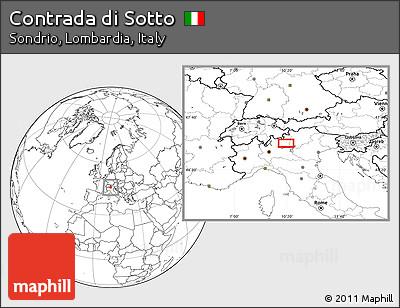 Free Blank Location Map of Contrada Di Sotto