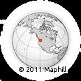 Outline Map of Umatilla, rectangular outline