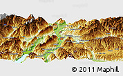 Physical Panoramic Map of Trento