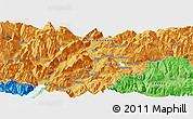 Political Panoramic Map of Trento