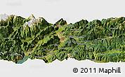 Satellite Panoramic Map of Trento