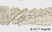 Shaded Relief Panoramic Map of Trento