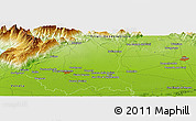 "Physical Panoramic Map of the area around 46° 1' 3"" N, 12° 49' 29"" E"