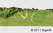 Satellite Panoramic Map of Pasian di Prato