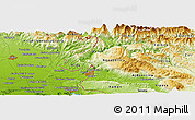 Physical Panoramic Map of Spodnja Idrija