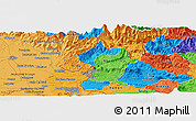 Political Panoramic Map of Planina pri Cerknem