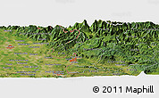 Satellite Panoramic Map of Planina pri Cerknem