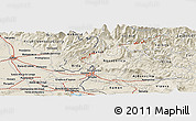 Shaded Relief Panoramic Map of Bilje