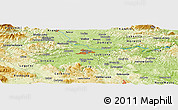 Physical Panoramic Map of Dobravica