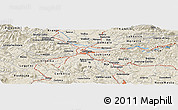 Shaded Relief Panoramic Map of Bukovica