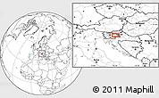 Blank Location Map of Trbovlje