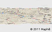 """Shaded Relief Panoramic Map of the area around 46°1'3""""N,15°22'30""""E"""