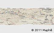 Shaded Relief Panoramic Map of Brezje pri Kumpolju